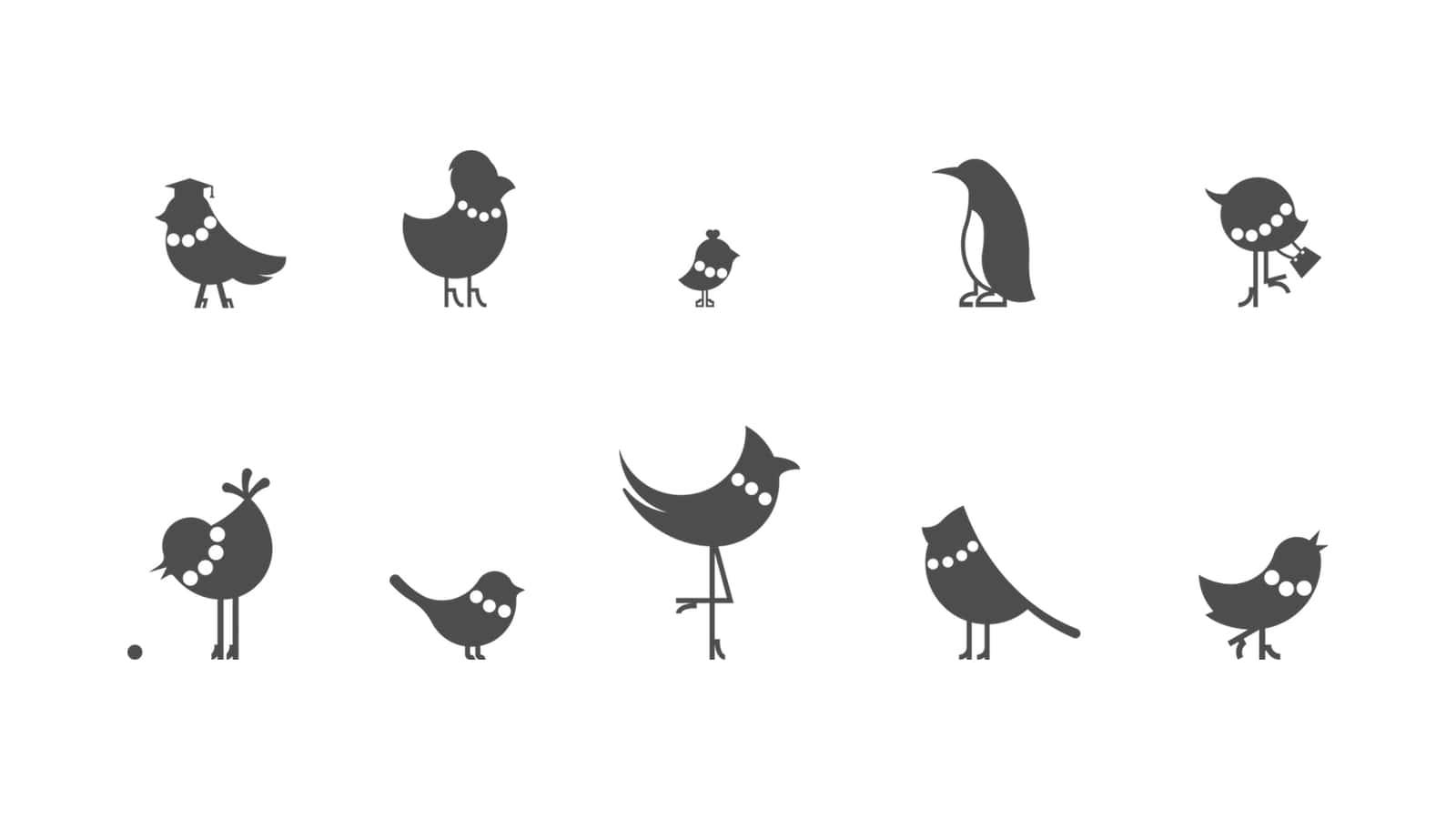 Птички-персонажи сети магазинов бусин и фурнитуры Кафебижу. Разработано Релкамным Агенствм Индэво – indevo.ru